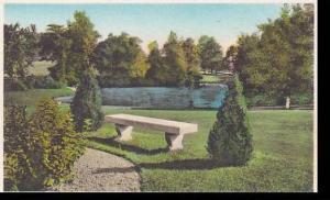 Massachusetts East Northfield Northfield Seminary Overlooking Perry Pond Albe...