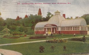 MILWAUKEE, Wisconsin, PU-1919; Conservatory, National Soldiers' Home