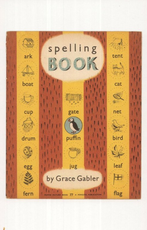 Spelling Book by Grace Gabler 1948 Puffin Book Pstcard