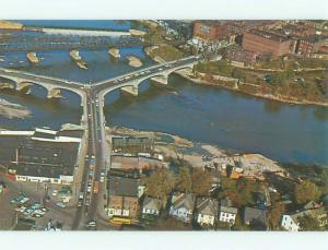 Unused Pre-1980 AERIAL VIEW OF TOWN Zanesville Ohio OH n2462@