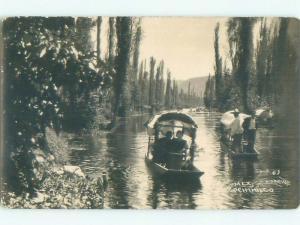 old rppc NICE VIEW Xochimilco In Mexico City Mexico i1946