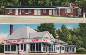 SMITHVILLE, Georgia, 1950-60s; Village Inn Motel & Restaurant, 2-views