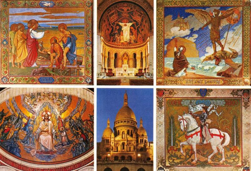Multi View Postcard, Basilique du Sacre Coeur de Montmartre, PARIS, France 34R