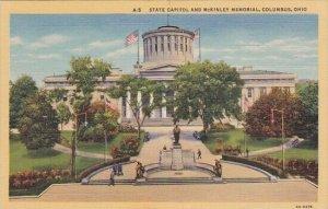 State Capitol And Mckinley Memorial Columbus Ohio