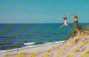 Massachusetts Cape Cod Having Fun At The Beach