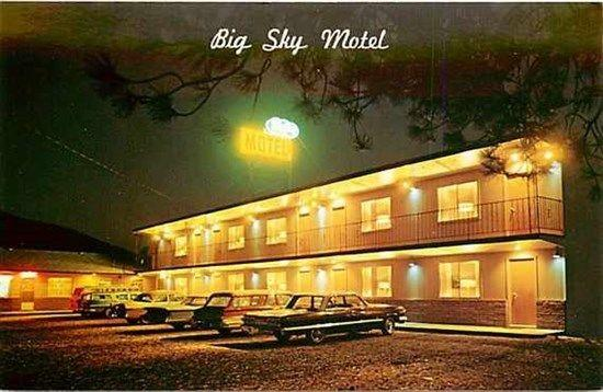 MT, Superior, Montana, Big Sky Motel, 1950s Cars, Dexter Press 23595-C
