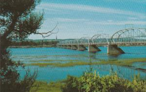 Canada New Brunswick Fredericton Bridge On Saint John River At Frederiction