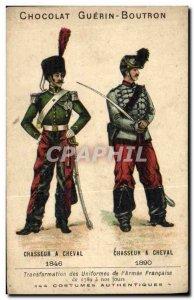 Chromo Chocolate Guerin Boutron Hunter horse 1846 1890 Militaria