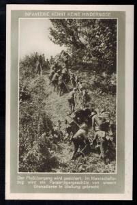 Mint WW2 RPPC Postcard Germany Army Wehrmacht Infantry Hauling artillery up Hill