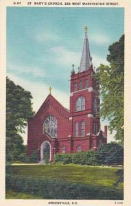 South Carolina Greenville Sainte Marys Church 338 West Washington Street