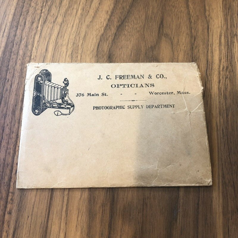 WORCHESTER , MASS MA - Antique American Optician ad Advertising Envelope
