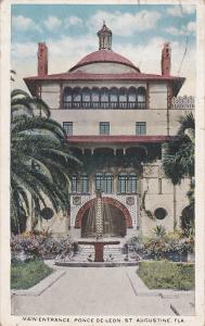 Main Entrance,  Ponce De Leon,  St. Augustine,  Florida,   PU_1919