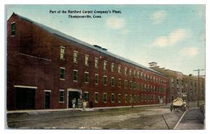 Early 1900s Hartford Carpet Company Plant, Thompsonville, CT Postcard