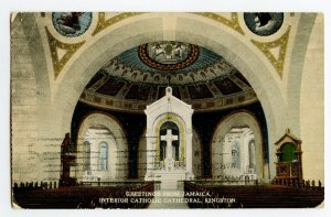 Postcard Greetings from Jamaica Catholic Cathedral Kingston Standard View Card