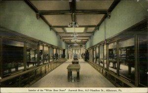 Allentown PA White Bear Store Interior Anewalt Bros c1910 Postcard