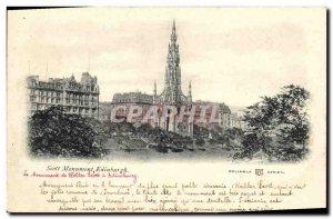 Old Postcard Edinburgh Scott Monument