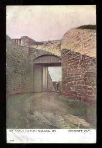 dc573 - PRESCOTT Ontario 1908 Fort Wellington Postcard