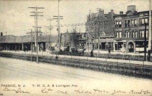 YMCA and Lexington Ave, Passaic, New Jersey, NJ, USA Railroad Train Depot 190...