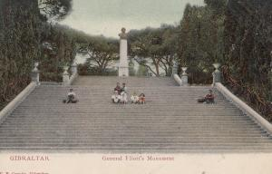 General Eliotts Monument Gibraltar Postcard