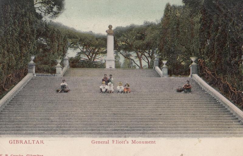 General Eliotts Monument Gibraltar Postcard
