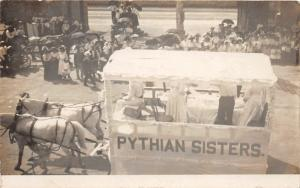 F15/ Parade Real Photo RPPC Postcard c1910 Pythian Sisters Float 6