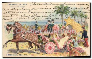 Postcard Old Nice Carnival Battle of Flowers
