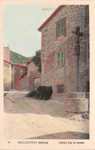 Spain Old Vintage Antique Post Card Artistica Cruz de Termino Valldemosa Glue...