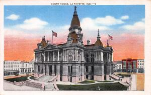 Court House, LaFayette, Indiana, Early Postcard, unused