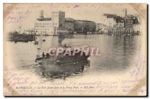 Old Postcard Marseille Fort St John and the Old Port