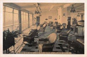 Marine Sun Deck, Colton Manor, Atlantic City, N.J., Early Postcard, Unused