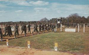 Preliminary rifle instruction,basic training, Fort Dix, New Jersey, 40-60s
