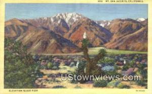 Mt. San Jacinto, CA, California, Post Card