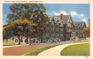 Middletown New York Nurses' Home State Hospital Vintage Postcard JA4741553