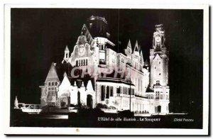 Le Touquet Old Postcard L & # City 39hotel lights