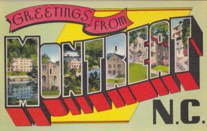 Large Letter Greetings ,MONTREAT , North Carolina , 30-40s