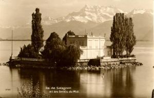 Switzerland - Montreux, Salagnon Island  *RPPC