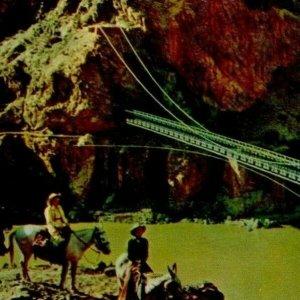 Kaibab Suspension Bridge Grand Canyon Horseback Ride International Tourist C1931