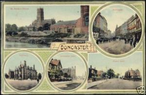yorkshire, DONCASTER, Street Scenes, Multiview (1910s)