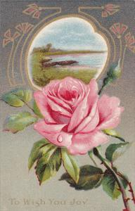 To Wish You Joy, Pink Rose, Row Boat along river, 00-10s