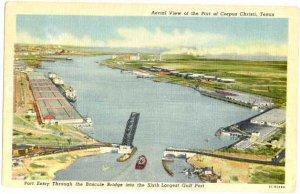 Port & Entry of Corpus Christi, Texas, TX, Linen