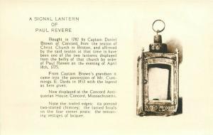 MA, Boston, Massachusetts, Signal Lantern of Paul Revere, RPPC