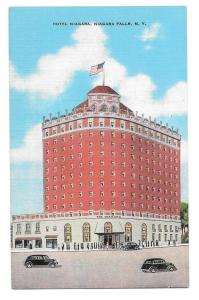 Niagara Falls NY Hotel Niagara Kropp Linen Postcard