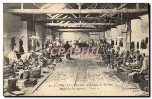 Old Postcard Ardoisieres Angers Carrieres d & # 39ardoises of Trelaze apprent...