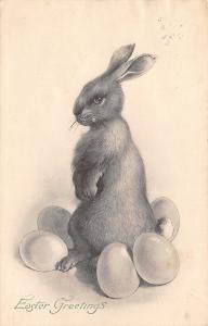 Easter~Sensitive Brown Upright Bunny Rabbit in Egg Pile~PTL Art de Vienne~No 235