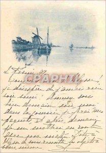 Postcard Old Windmill