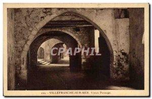 Villefranche sur Mer Old Postcard Old transition