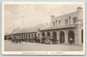 Ajo Arizona~Main Street Business Block~New Cornelia Copper Mine Store~1921 Cars