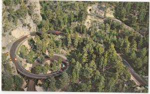PIG TAIL BRIDGE, Needles Highway, Black Hills, South Dakota, unused Postcard