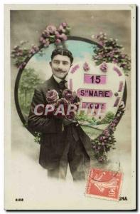 Old Postcard Fancy Man Ste Marie Surname