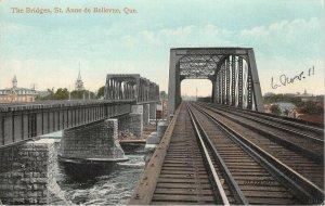 br105794 the bridges st anne de bellevue quebec canada train